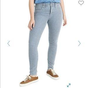 Madewell hi rise railroad skinny jeans